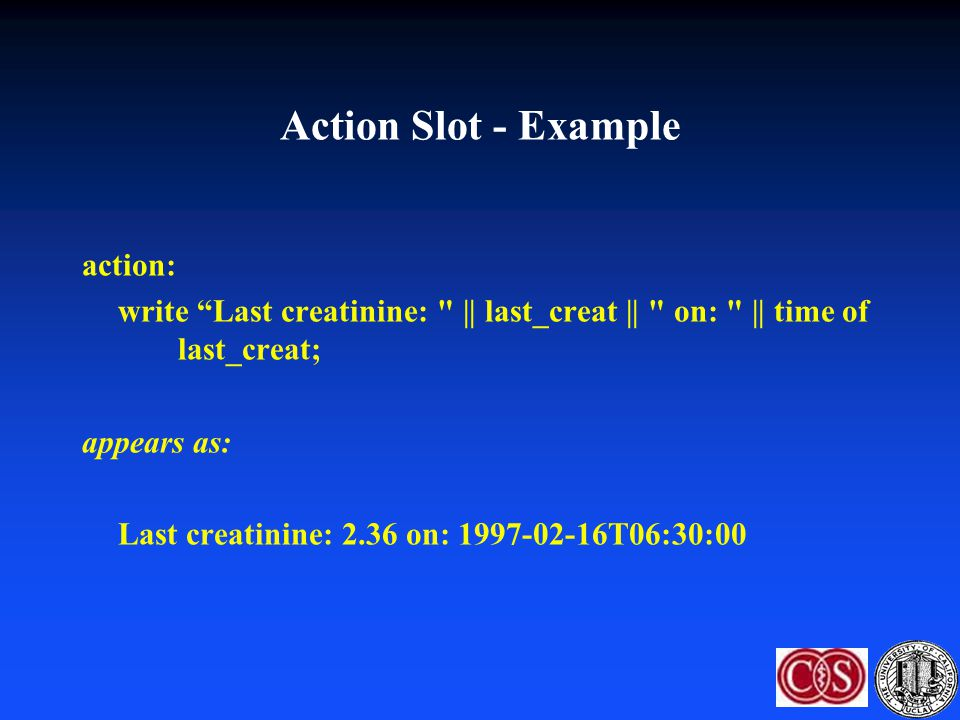 Action Slot - Example action: