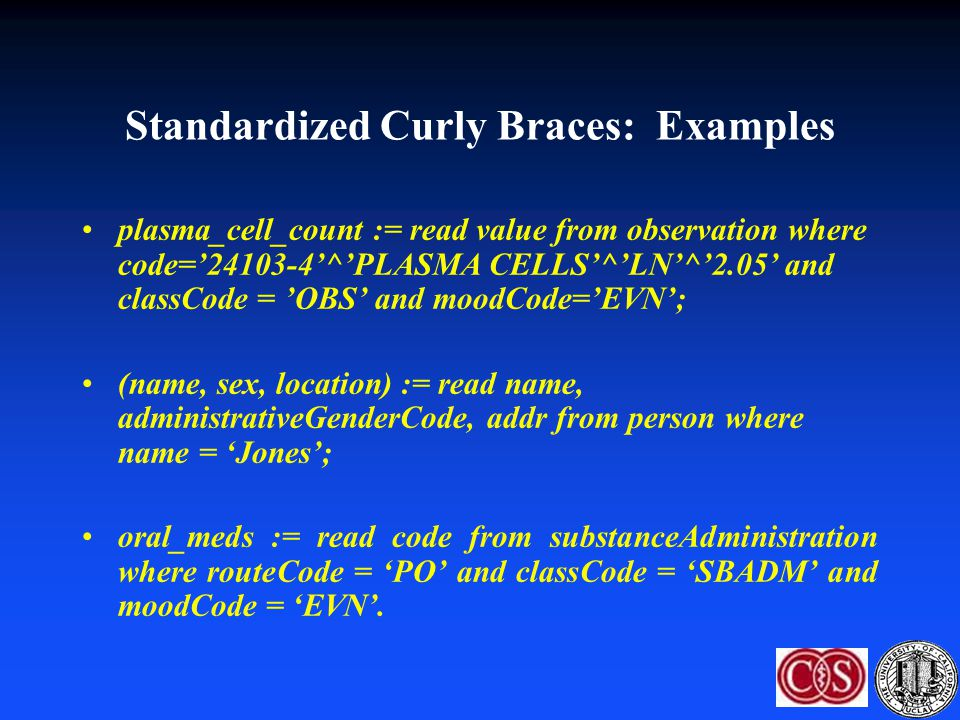 Standardized Curly Braces: Examples