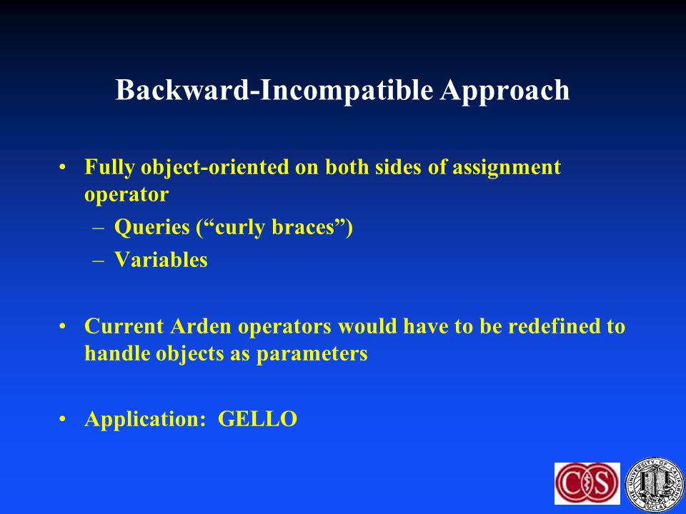 Backward-Incompatible Approach
