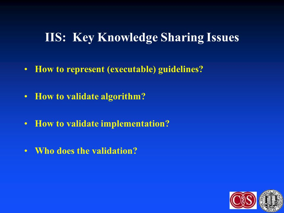 IIS: Key Knowledge Sharing Issues