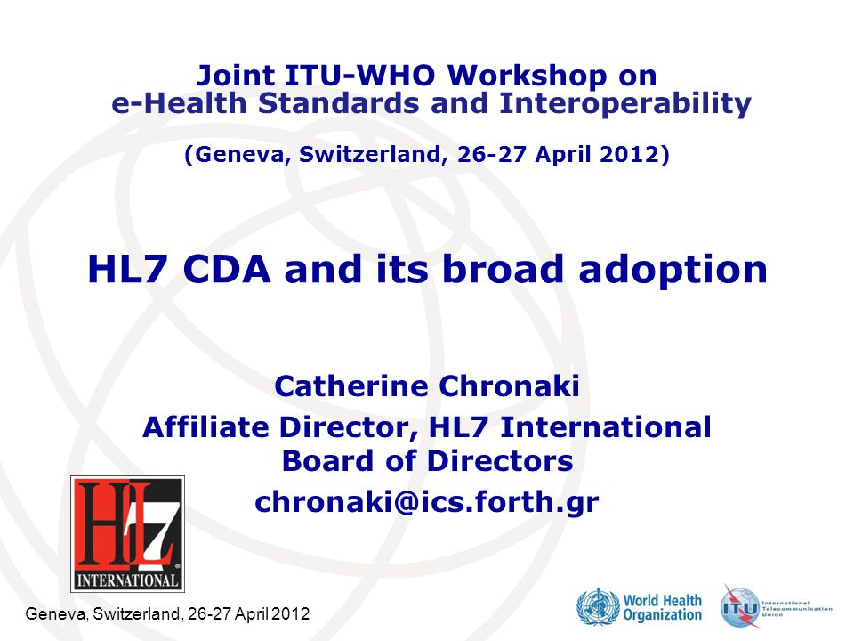 HL7 CDA and its broad adoption