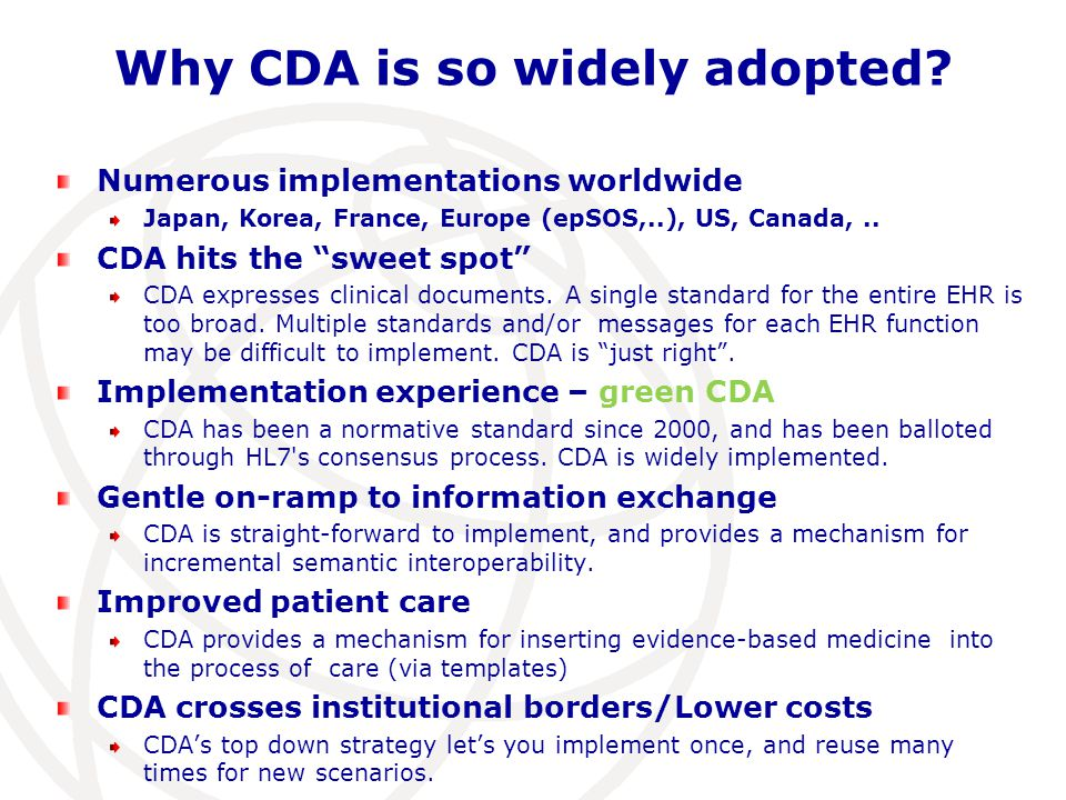 Why CDA is so widely adopted