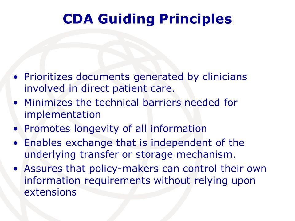 CDA Guiding Principles