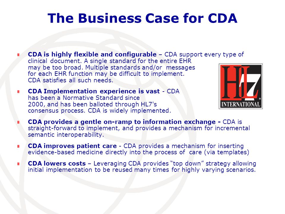 The Business Case for CDA