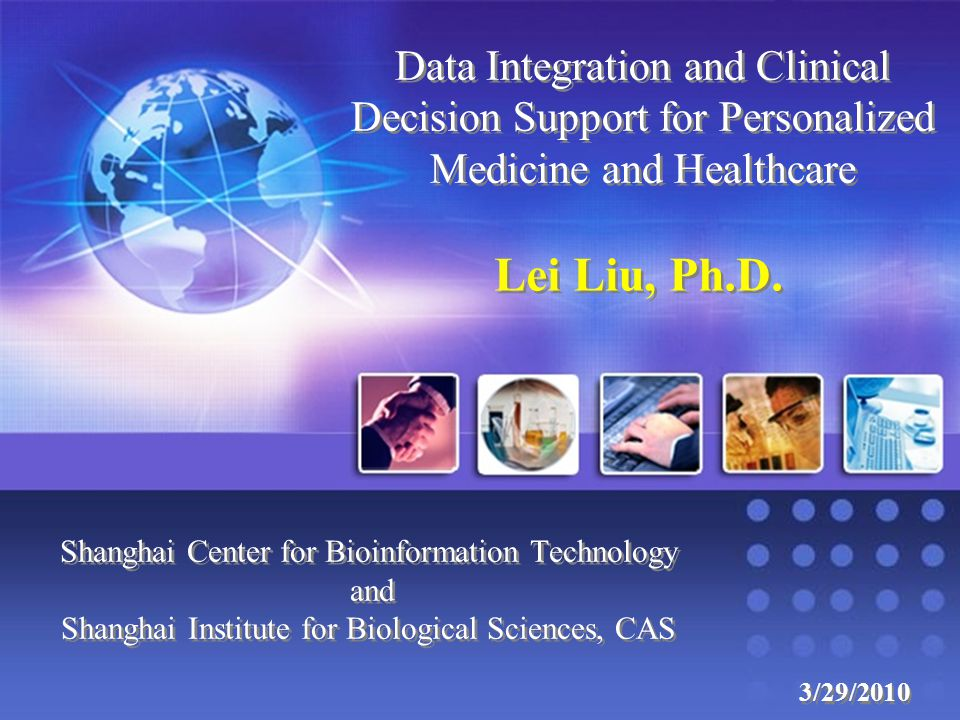 Data Integration and Clinical Decision Support for Personalized Medicine and Healthcare