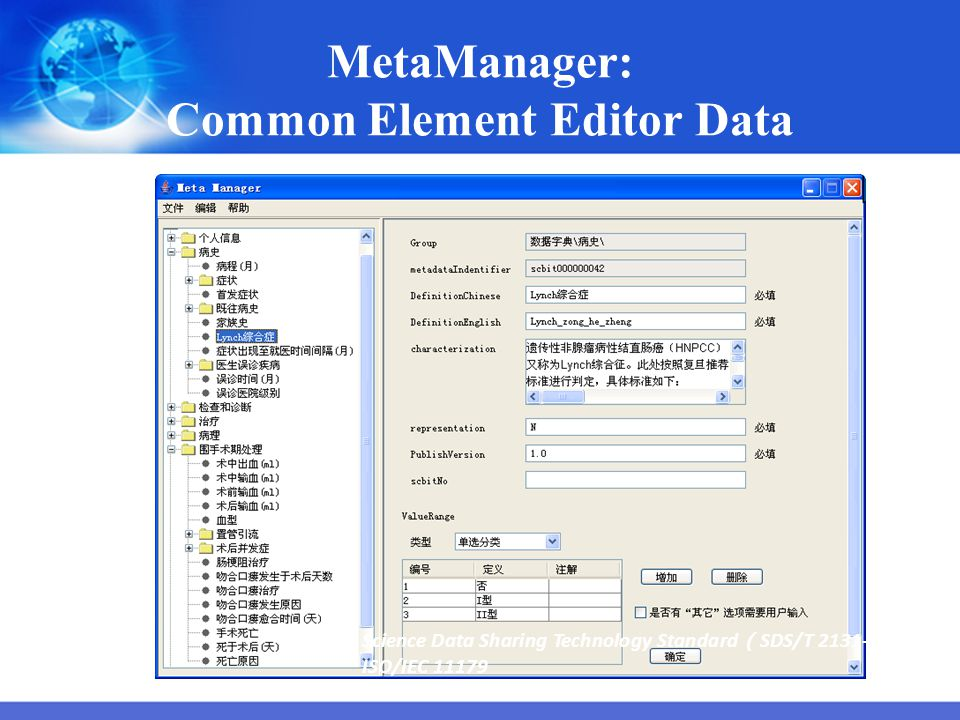 MetaManager: Common Element Editor Data