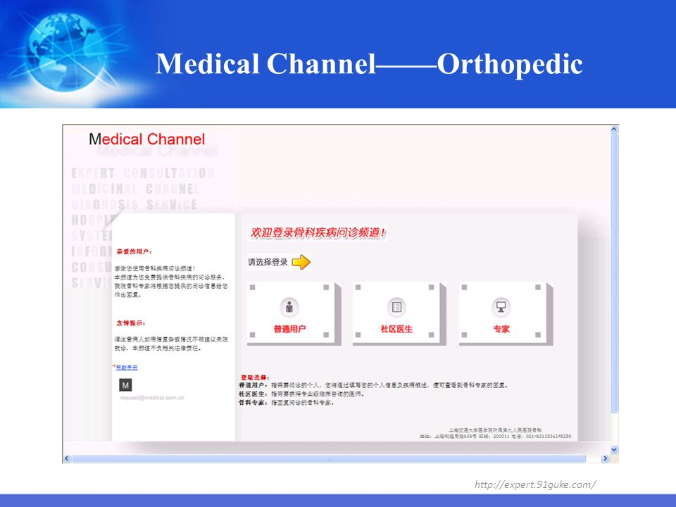 Medical Channel——Orthopedic
