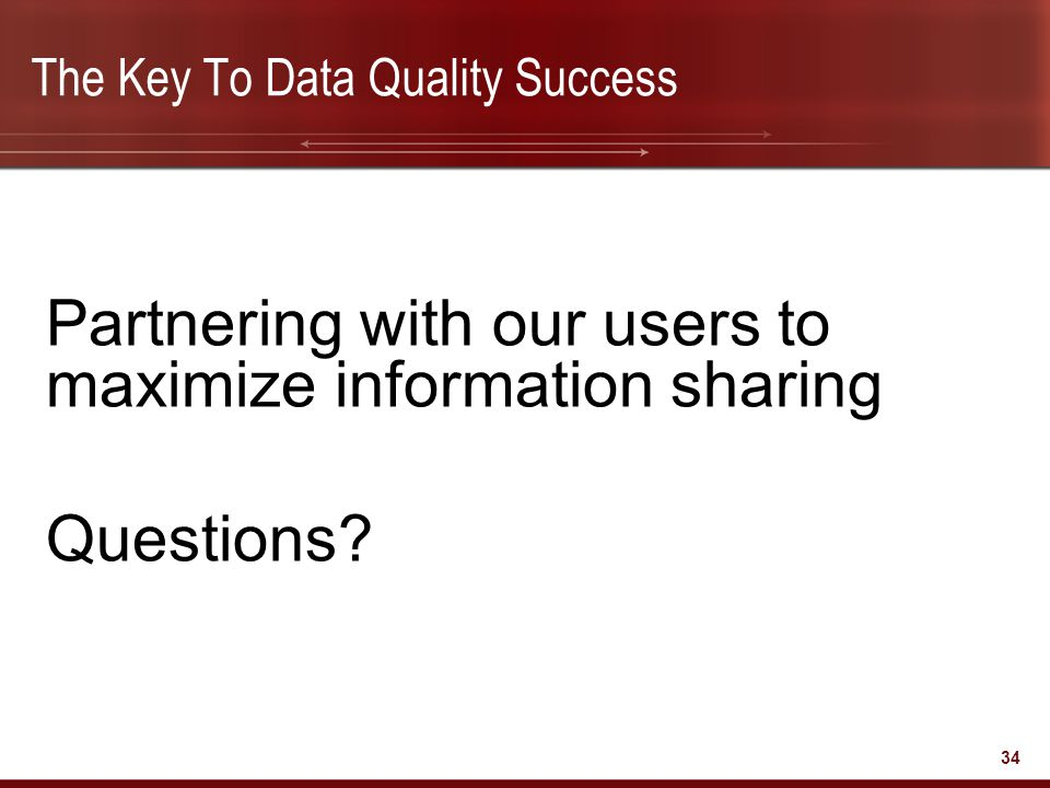The Key To Data Quality Success