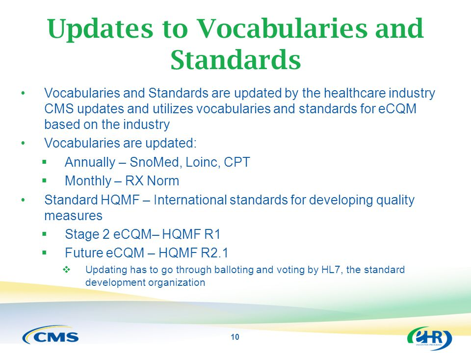 Updates to Vocabularies and Standards