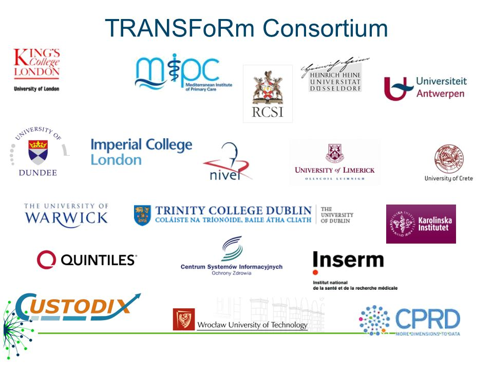 TRANSFoRm Consortium 21 partners