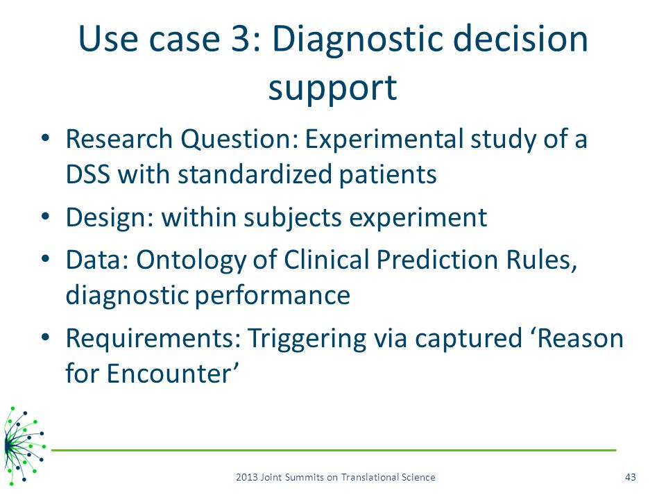 Use case 3: Diagnostic decision support