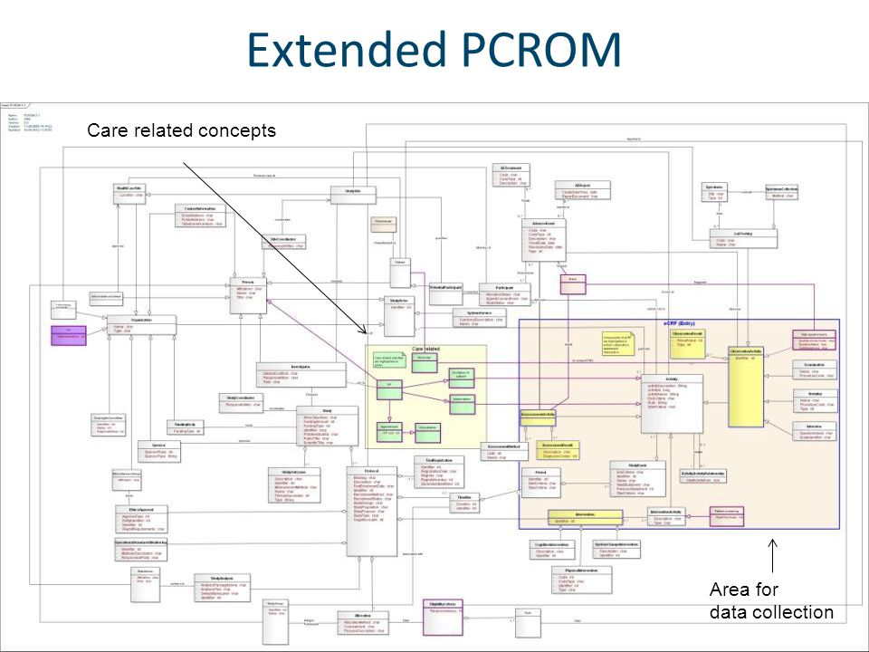 Extended PCROM Care related concepts Area for data collection