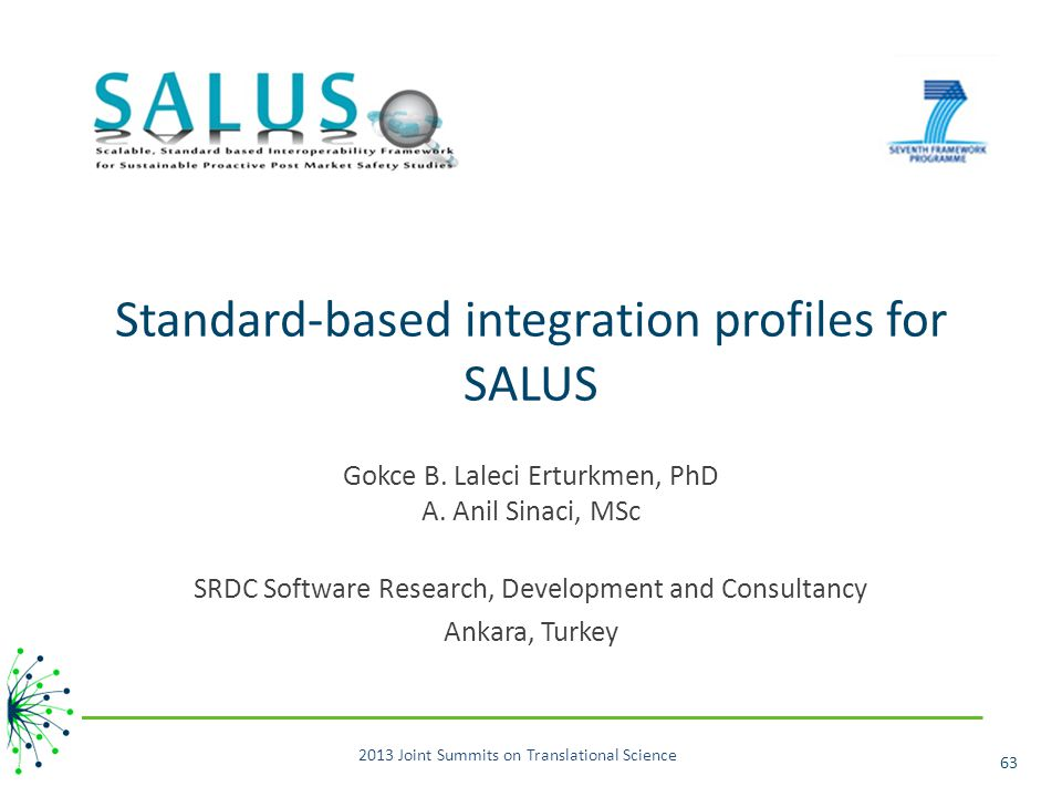 Standard-based integration profiles for SALUS