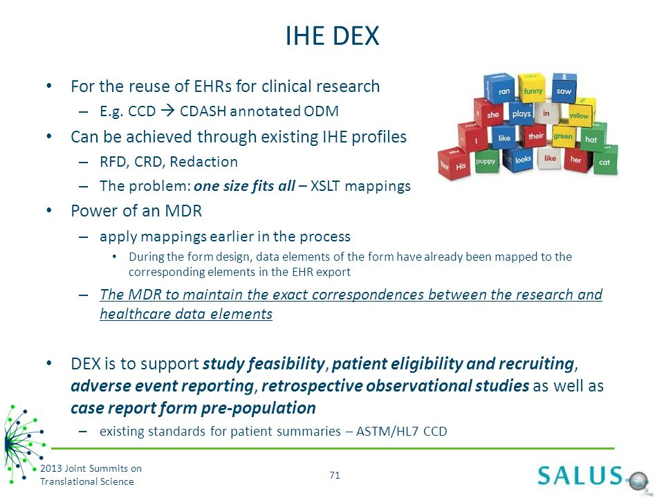 IHE DEX For the reuse of EHRs for clinical research