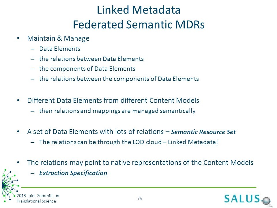 Linked Metadata Federated Semantic MDRs