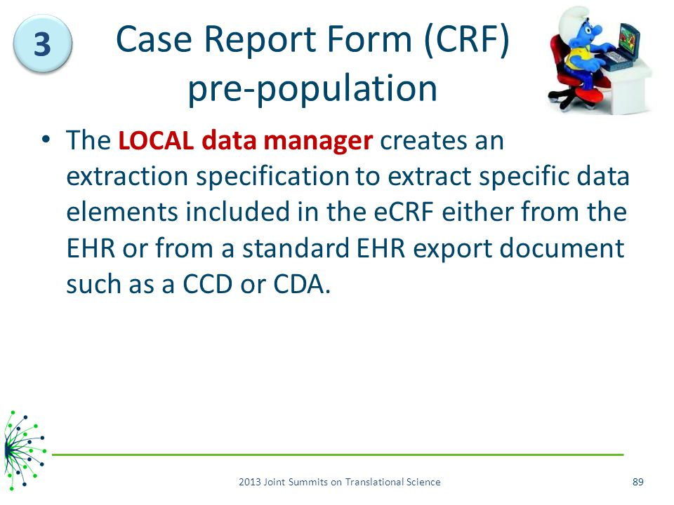 Case Report Form (CRF) pre-population
