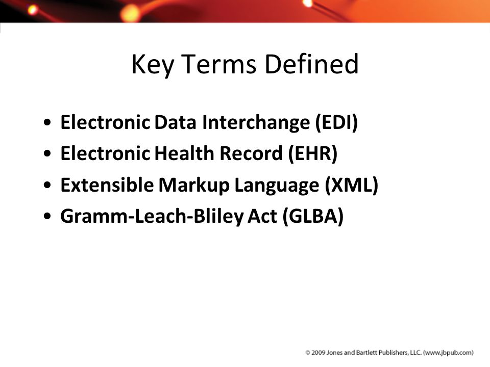 Key Terms Defined Electronic Data Interchange (EDI)