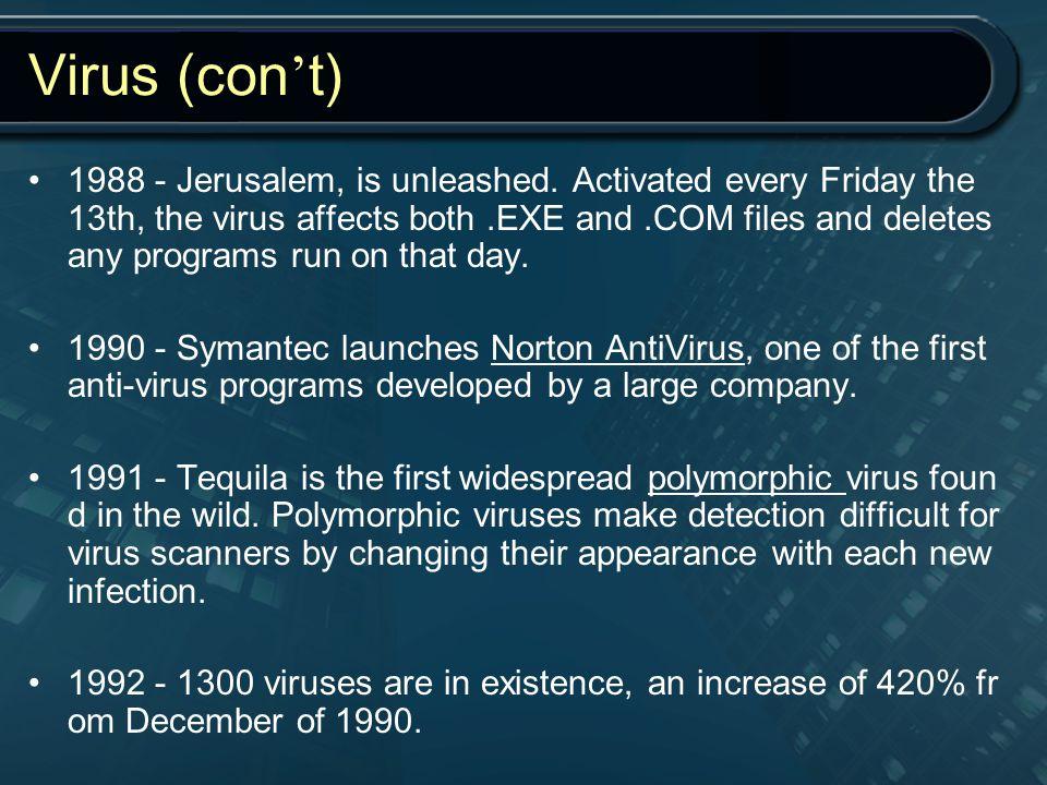 Virus (con't)