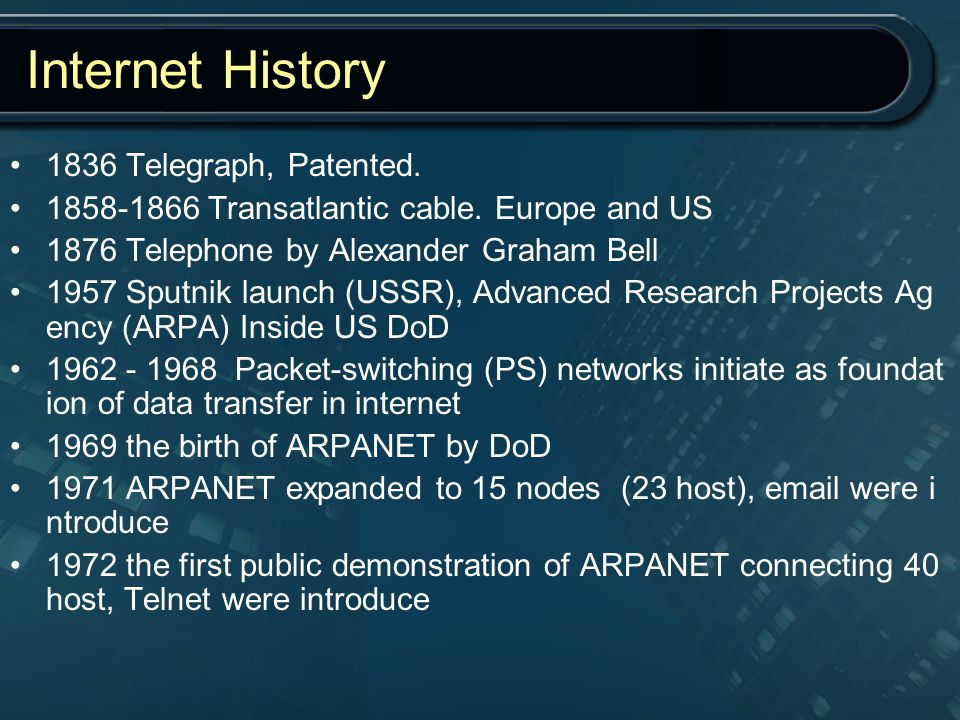 Internet History 1836 Telegraph, Patented.