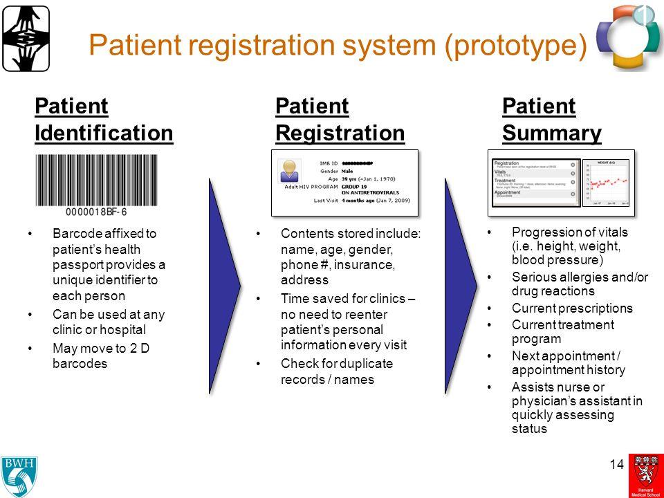 Patient registration system (prototype)