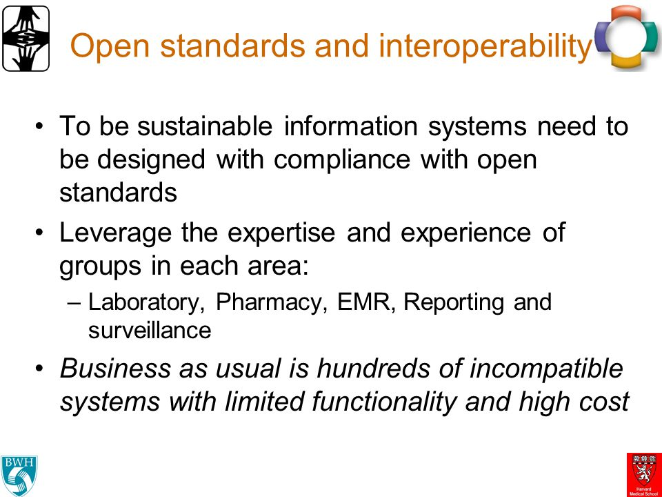 Open standards and interoperability