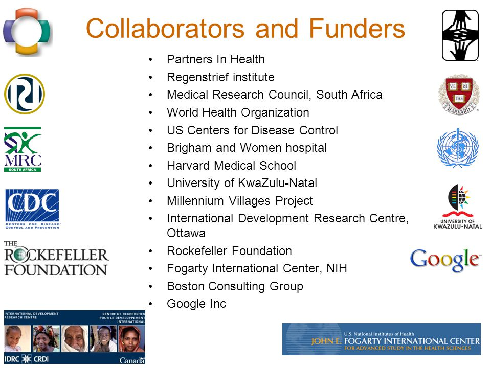 Collaborators and Funders