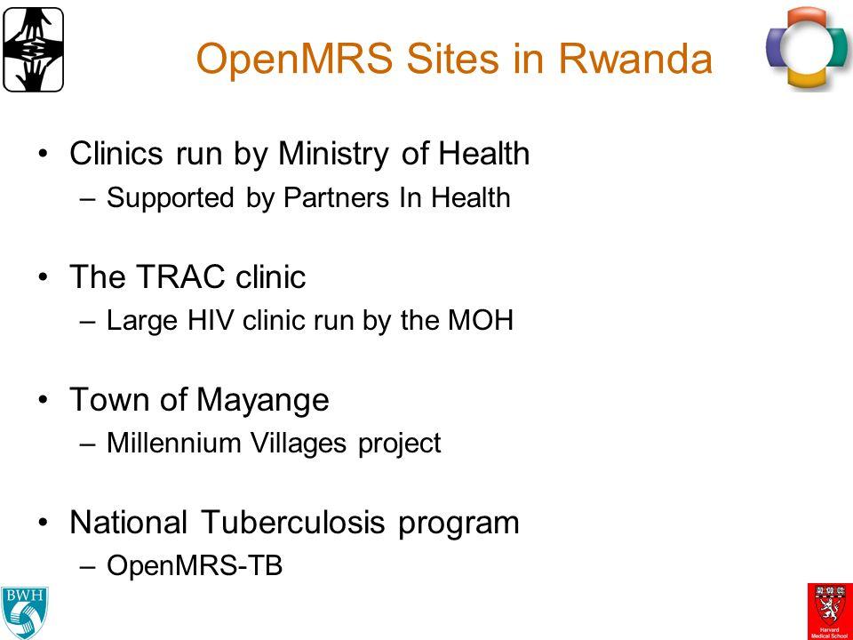 OpenMRS Sites in Rwanda
