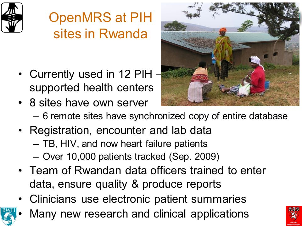 OpenMRS at PIH sites in Rwanda