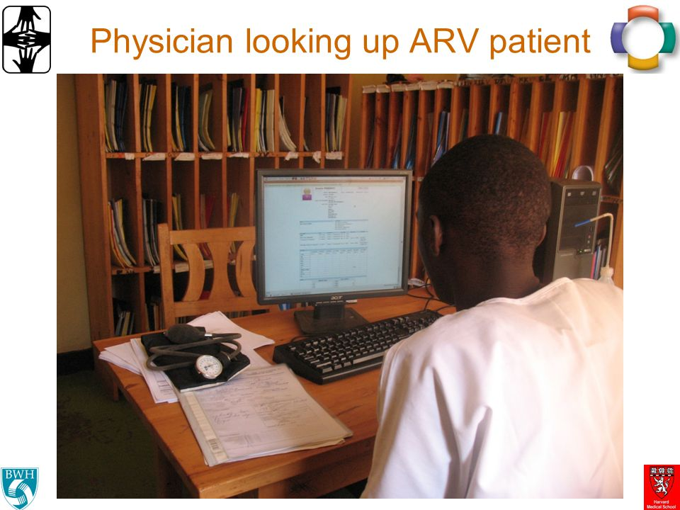 Physician looking up ARV patient