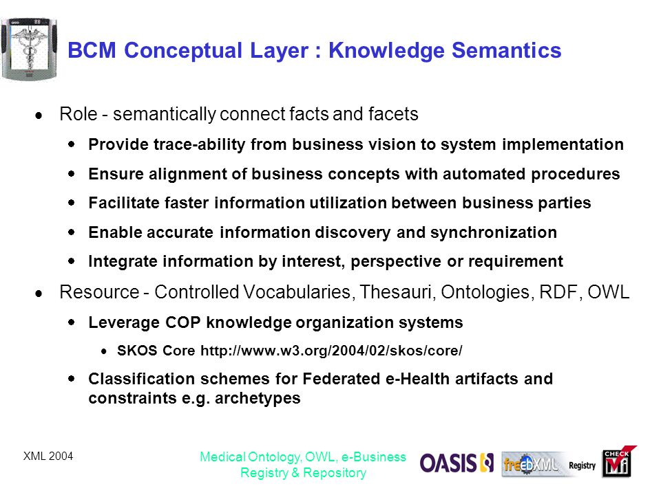 BCM Conceptual Layer : Knowledge Semantics