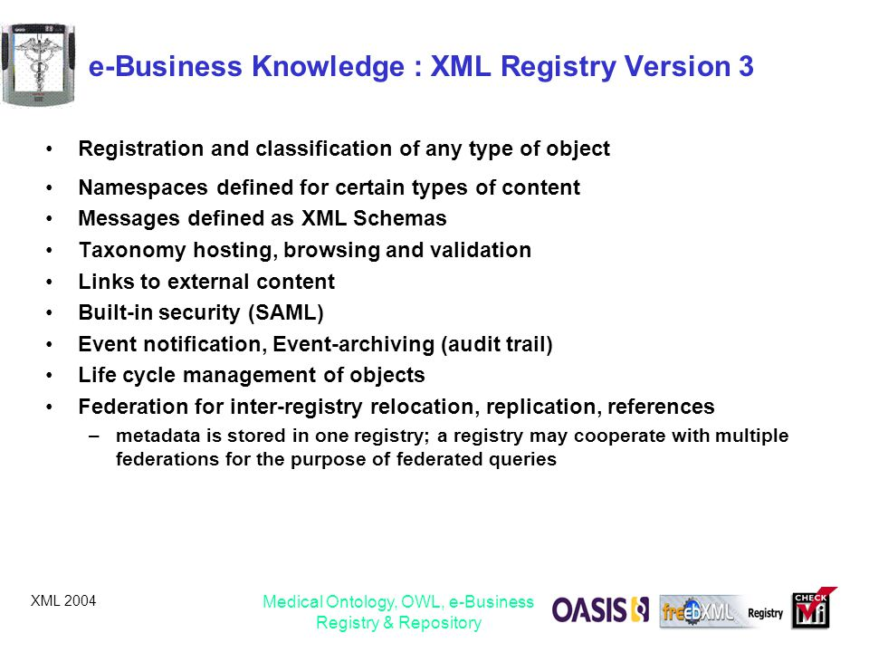 e-Business Knowledge : XML Registry Version 3