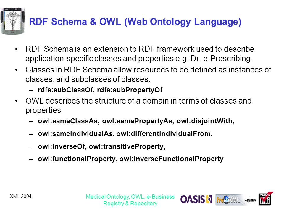 RDF Schema & OWL (Web Ontology Language)
