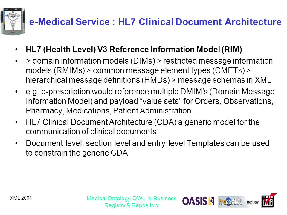 e-Medical Service : HL7 Clinical Document Architecture