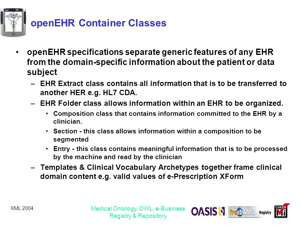 openEHR Container Classes