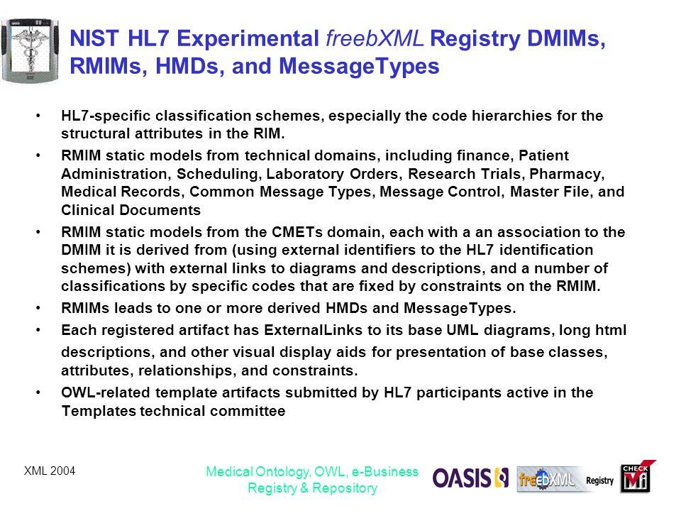 Medical Ontology, OWL, e-Business Registry & Repository