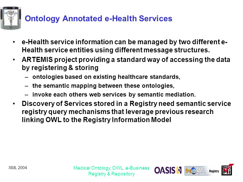 Ontology Annotated e-Health Services