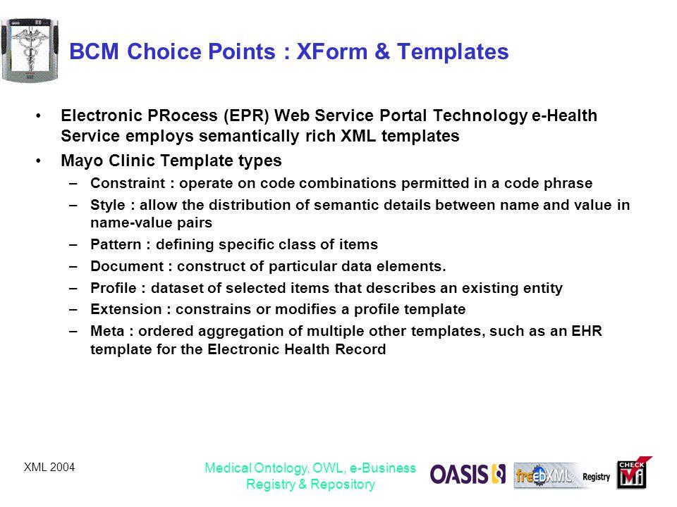BCM Choice Points : XForm & Templates