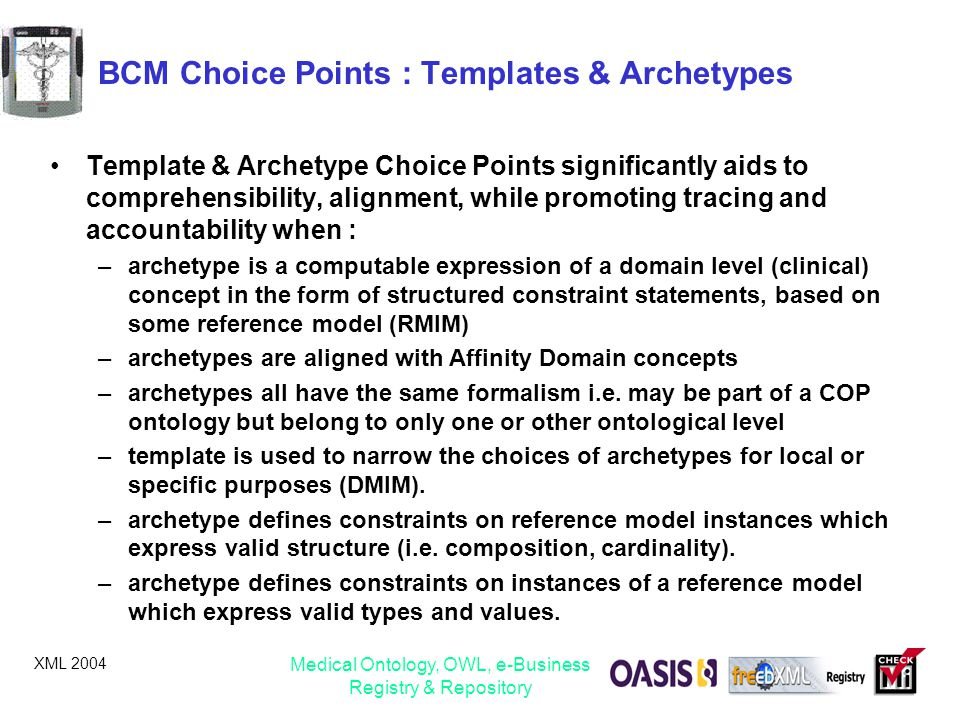 BCM Choice Points : Templates & Archetypes
