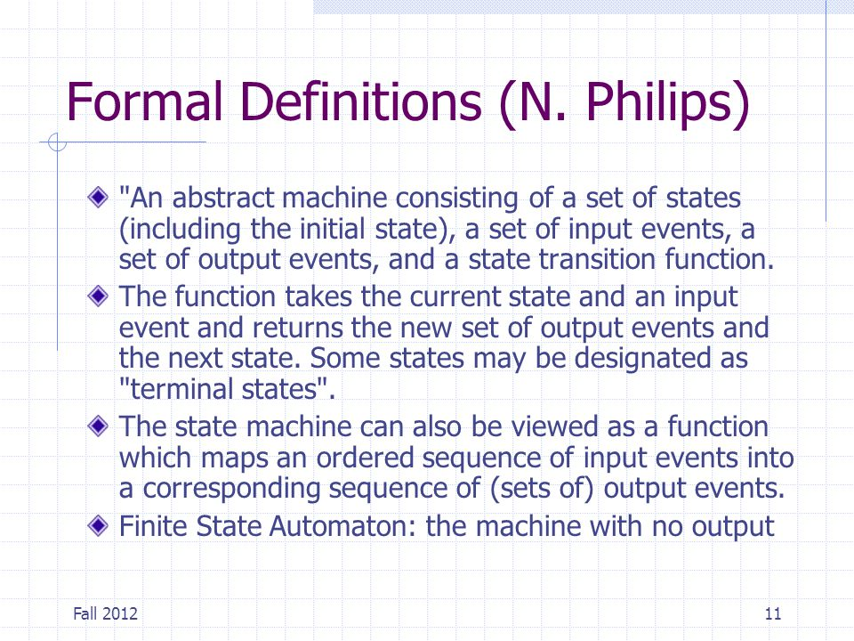 Formal Definitions (N. Philips)