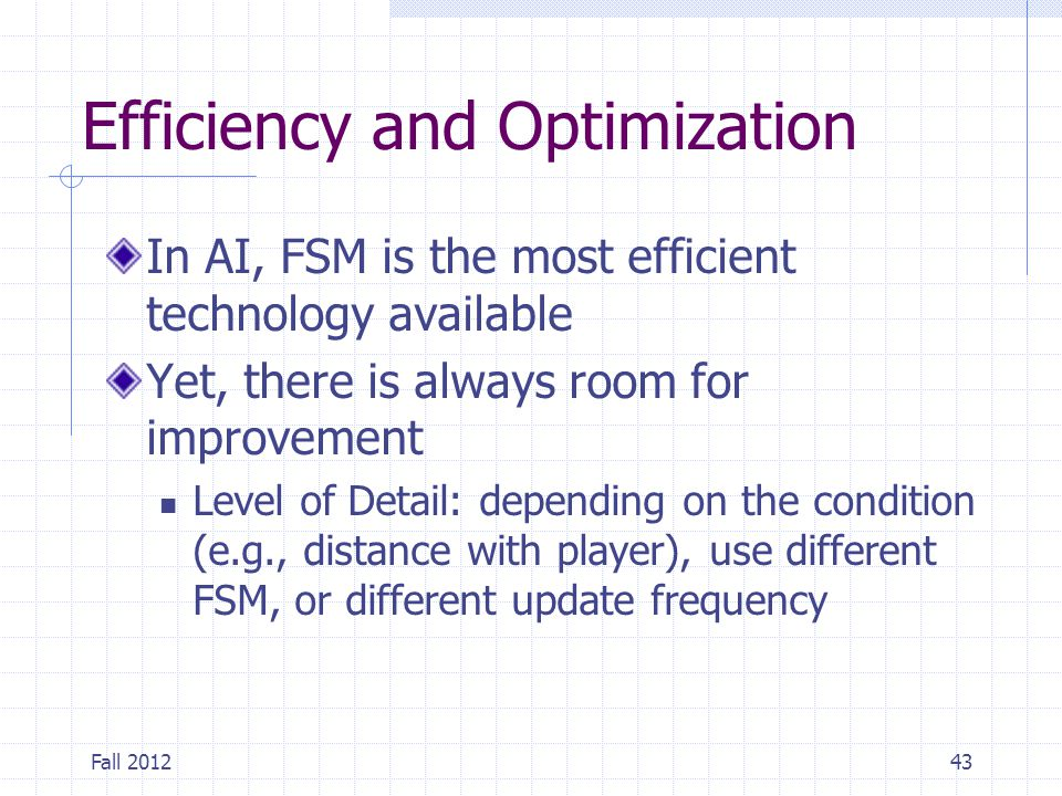 Efficiency and Optimization