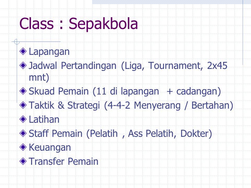 Class : Sepakbola Lapangan