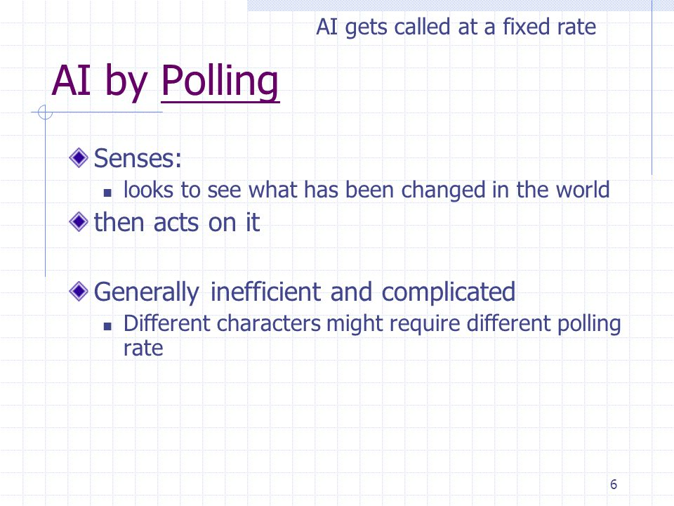 AI by Polling Senses: then acts on it