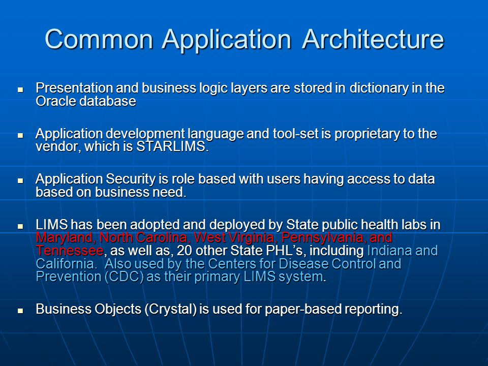 Common Application Architecture