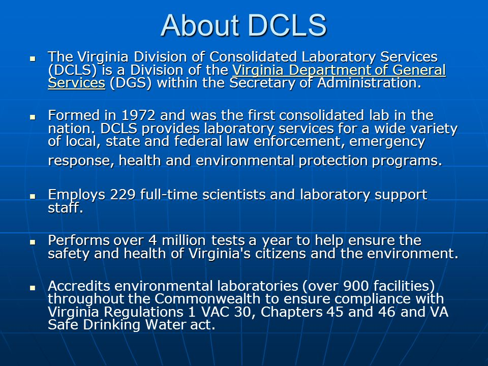 About DCLS