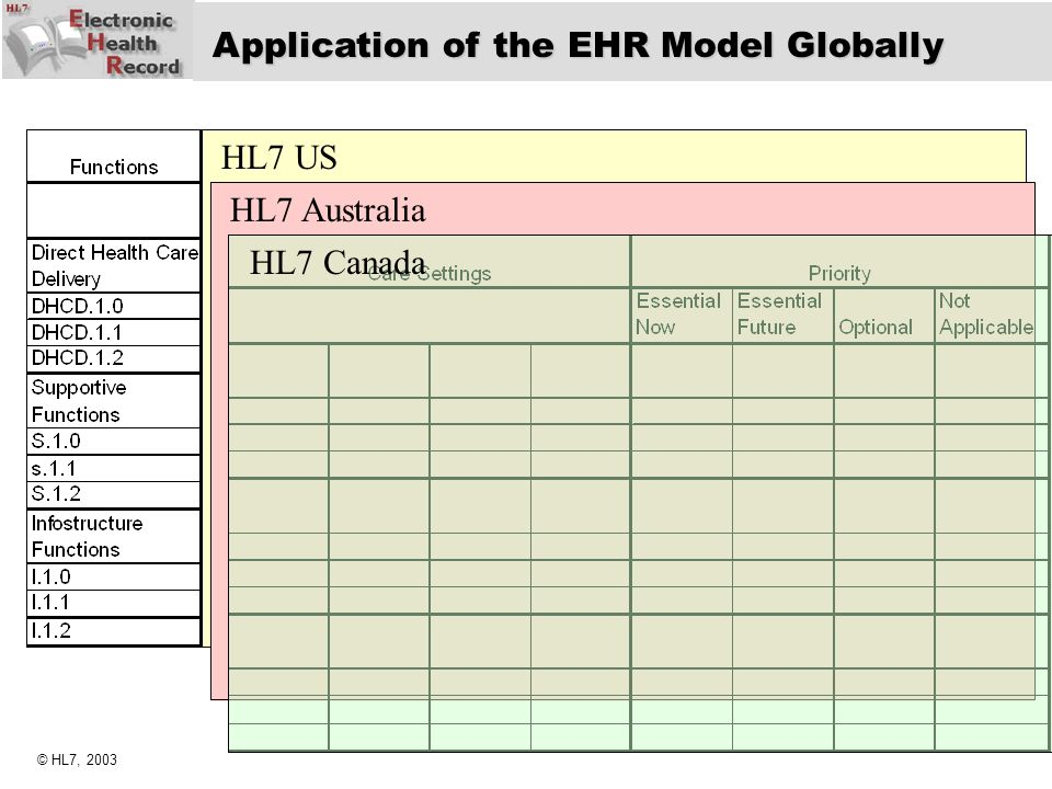 Application of the EHR Model Globally