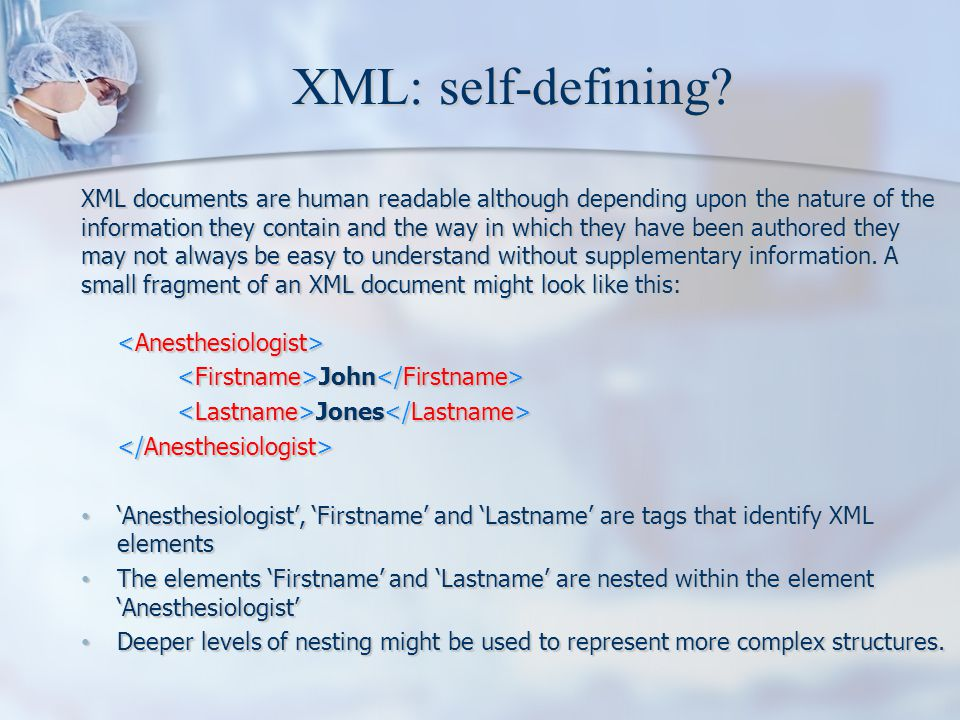 XML: self-defining