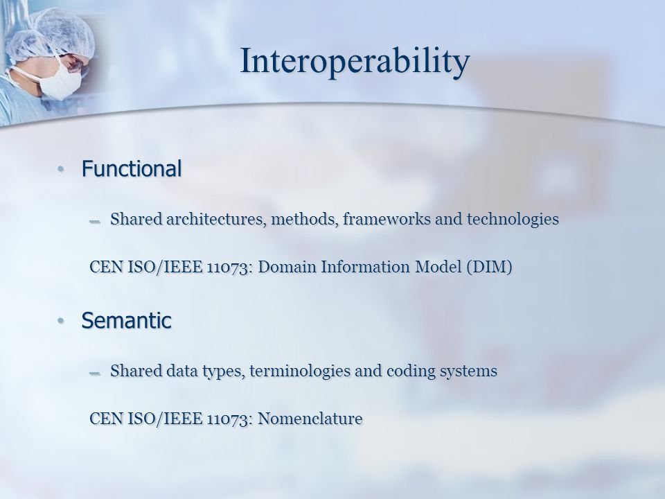 Interoperability Functional Semantic