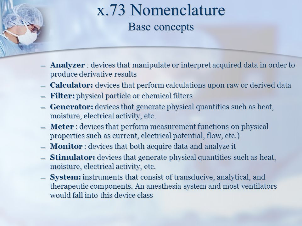 x.73 Nomenclature Base concepts
