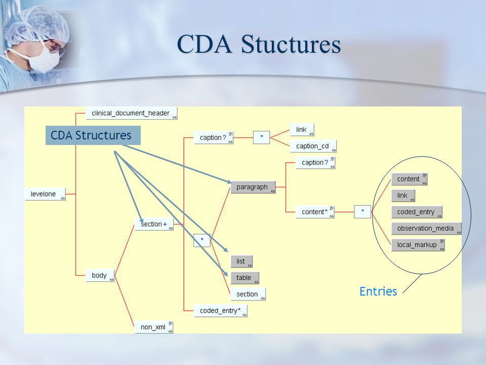 CDA Stuctures CDA Structures Entries