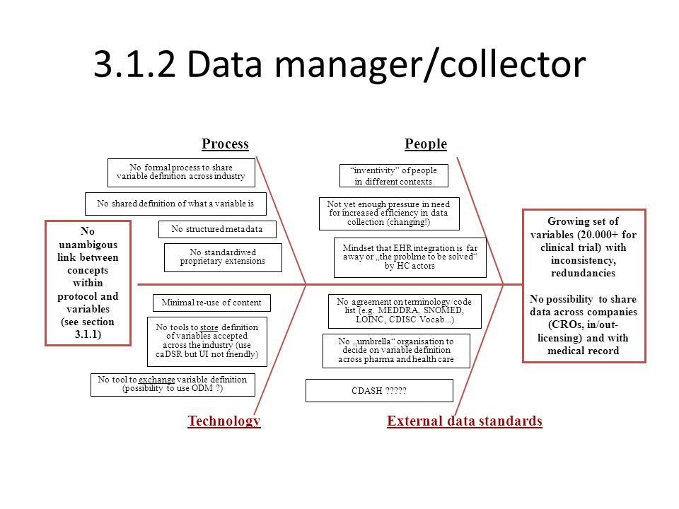 3.1.2 Data manager/collector